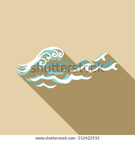 Round wave icon. Flat illustration of round wave vector icon for web