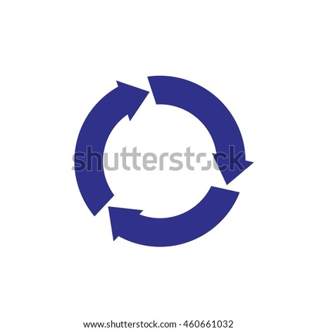 roundabout sign vector logo