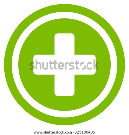 Rounded Cross Vector Icon Style Flat Stock Vector Royalty Free