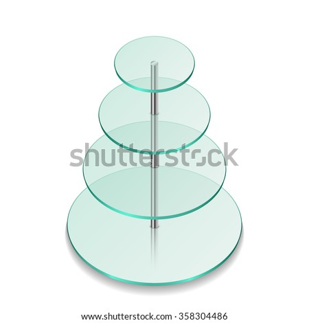 Rounded glass shelves. Vector Illustration - stock vector