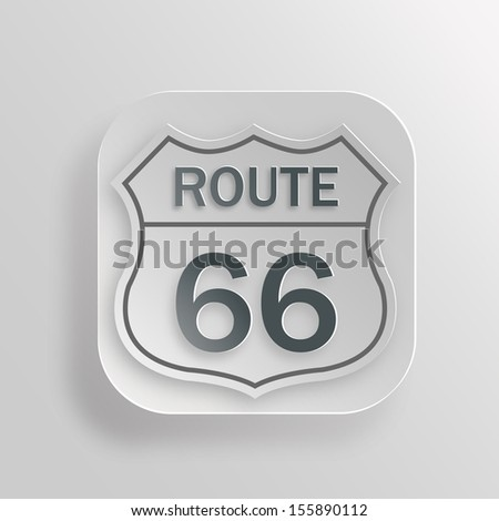 Route sixty six vector icon - stock vector