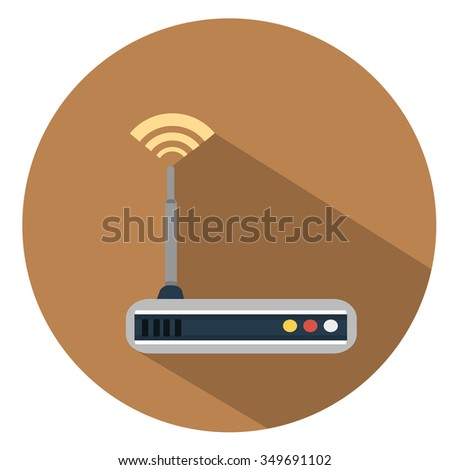 router flat icon - stock vector