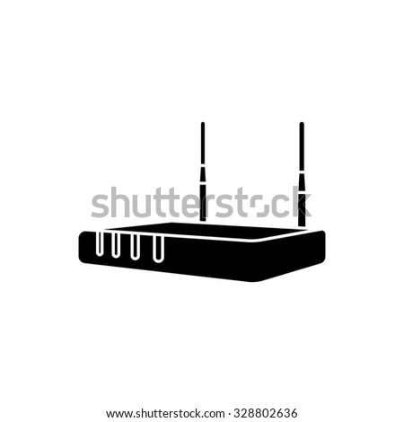 Router, modem hardware, connection icon vector image. - stock vector