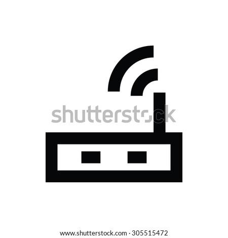 Router Vector Icon  - stock vector
