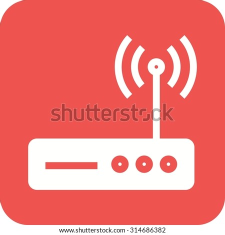 Router, wifi, modem icon vector image.Can also be used for home electronics and appliances. Suitable for mobile apps, web apps and print media. - stock vector