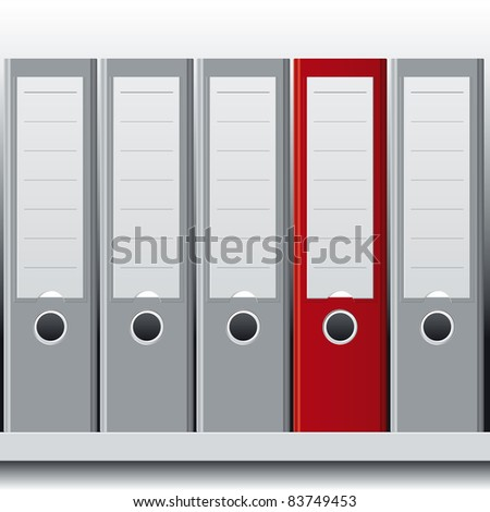 row of binders - stock vector