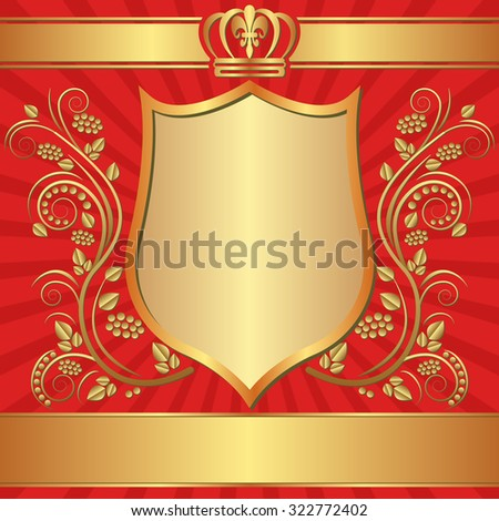 royal background with ornaments - stock vector