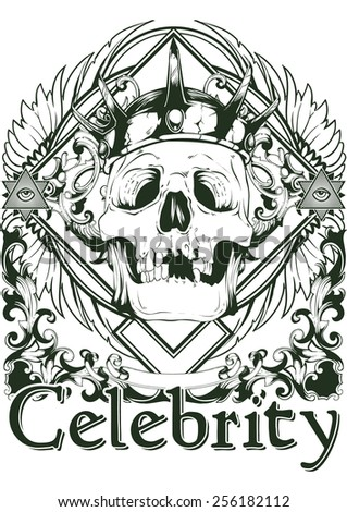 Royal celebrity - stock vector