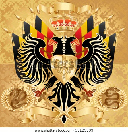 Royal Coat of Arms. Vector illustration. - stock vector