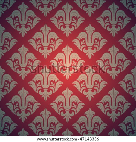 Royal damask wallpaper. Vector Illustration - stock vector