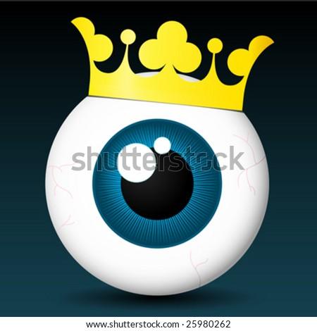 Royal eyeball - vector - stock vector