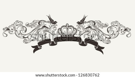 Royal High Ornate Text Banner - stock vector