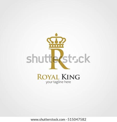 Royal King Design Logo Template Vector Stock Vector