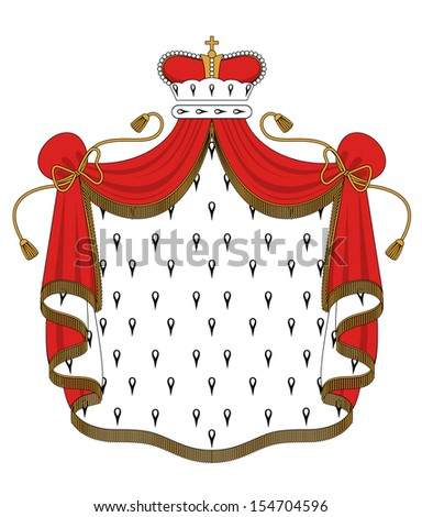 Royal mantle with crown for heraldry design or idea of logo. Jpeg version also available in gallery - stock vector