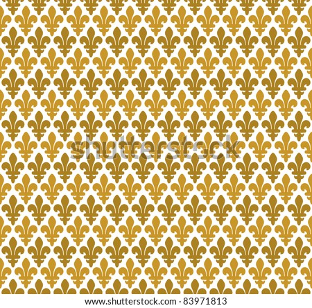 Royal pattern - lily seamless pattern - stock vector
