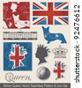 Royal Vector Seamless Patterns and Icons.  Use to celebrate the Queen's Jubilee. - stock vector