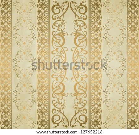 Royal vintage damask vector background - stock vector