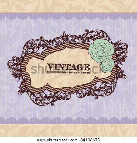 Royal vintage frame. Great for greeting cards and invitations. - stock vector