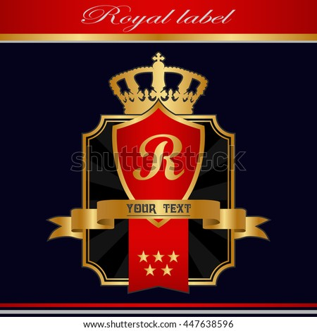 royal vintage label. - stock vector