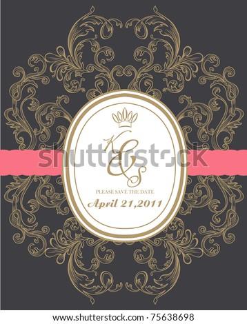 royal wedding card made specially for you - stock vector