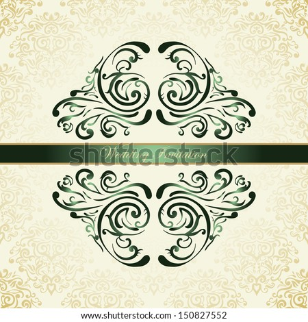 Royal wedding invitation on golden background stock vector 150827552 royal wedding invitation on golden background stopboris Image collections