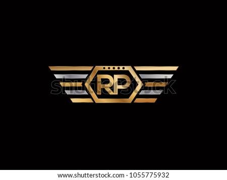 rp initial box shape logo designs template