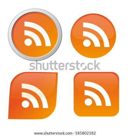 RSS icon - stock vector