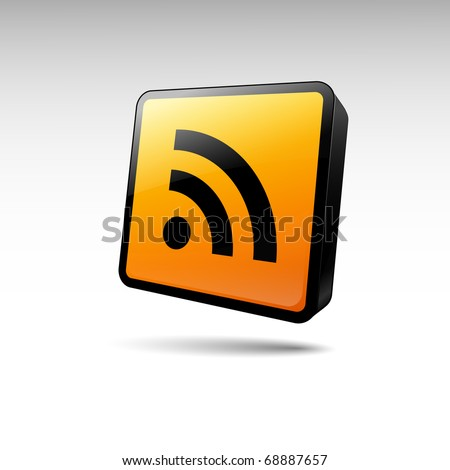 rss icon on a white background. vector illustration - stock vector