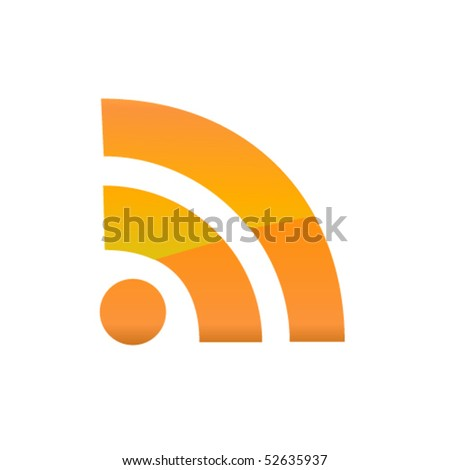 Rss icon. Vector - stock vector