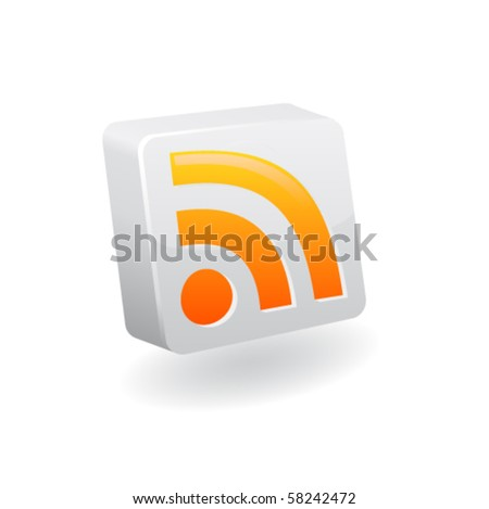 Rss icon. Vector
