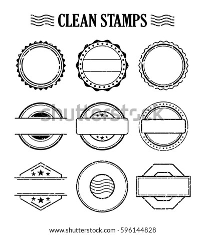 Rubber Ink Stamp Set Postage Mail Stock Vector 596144828 Shutterstock