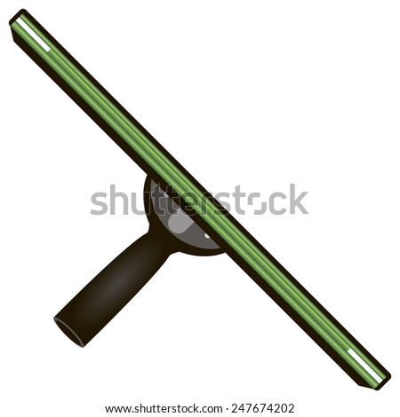 Rubber scraper for cleaning the working surface of the smooth surface. Vector illustration. - stock vector