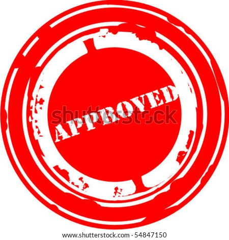 Rubber stamp approved - stock vector