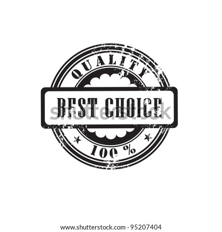 "Rubber stamp ""best choice"" in vector format - stock vector"