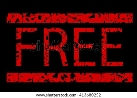 Rubber Stamp - Free  - stock vector