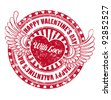 Rubber stamp Happy Valentine's day - stock vector
