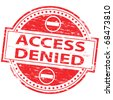 "Rubber stamp illustration showing ""Access Denied"" text and symbol - stock photo"