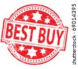 """Rubber stamp illustration showing """"BEST BUY"""" text - stock photo"""