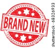 """Rubber stamp illustration showing """"brand new"""" text - stock vector"""