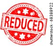"""Rubber stamp illustration showing """"Reduced"""" text - stock vector"""