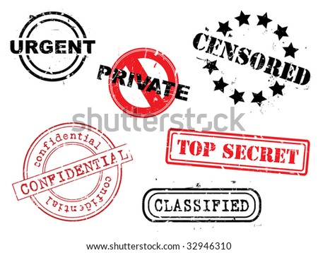 Rubber stamp set - stock vector