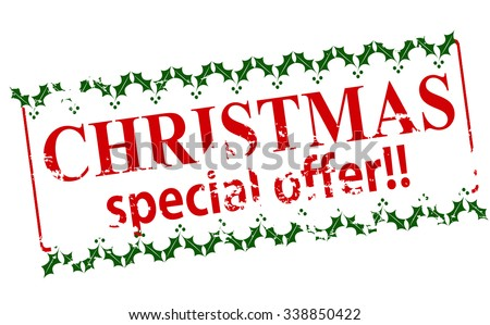 Rubber stamp with text Christmas special offer inside, vector illustration - stock vector
