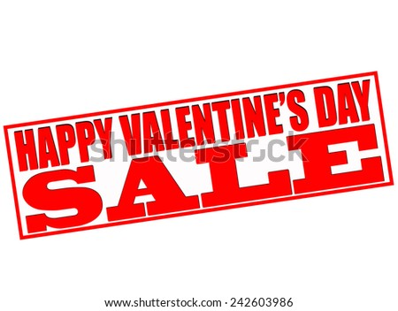 Rubber stamp with text happy Valentine day sale inside, vector illustration