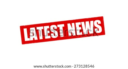 Rubber stamp with text latest news inside, vector illustration - stock vector