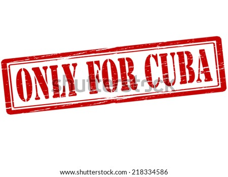 Rubber stamp with text only for Cuba inside, vector illustration` - stock vector