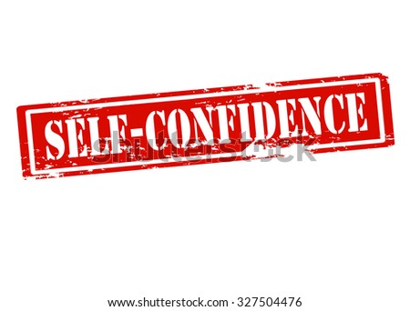 Rubber stamp with text self confidence inside, vector illustration