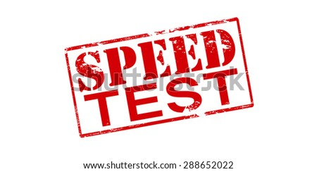 Rubber stamp with text speed test inside, vector illustration