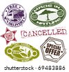 Rubber stamps a set - stock vector