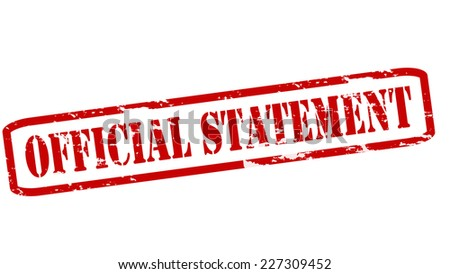 Rubber stamps with text official statement inside, vector illustration - stock vector
