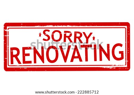 Rubber stamps with word renovating inside, vector illustration